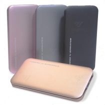 Brindes Power Banks Slim 8000mAh Personalizados.